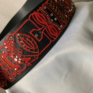 Chico's Accessories - CHICO'S Tiki Embroidered Large Wrap Belt